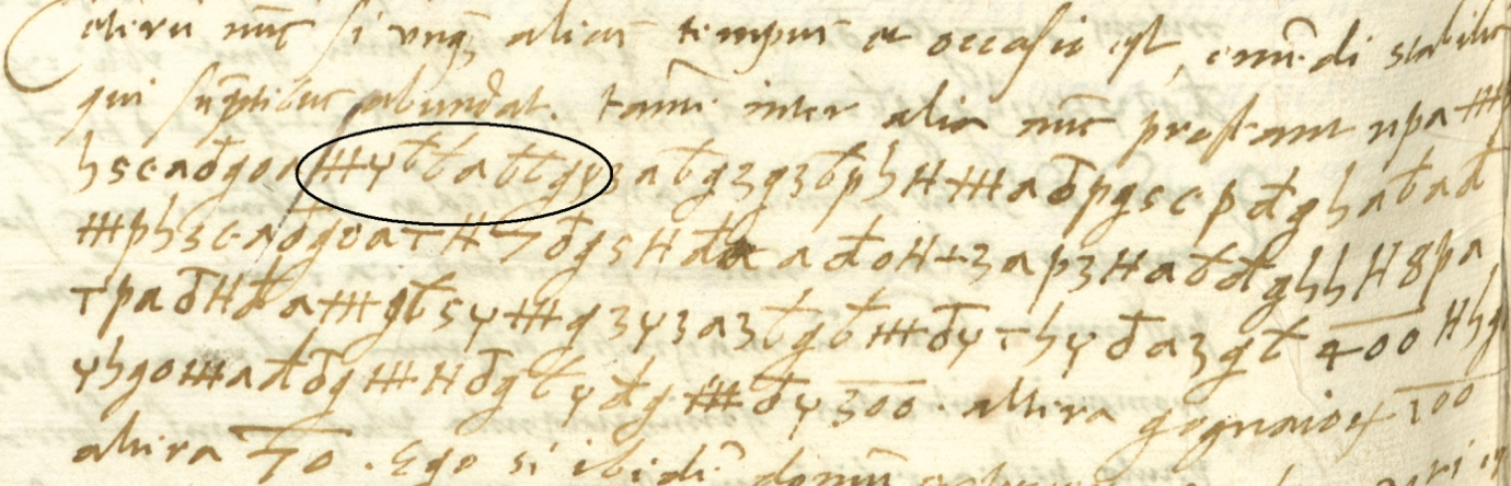 Figure 4 - An extract from Mihovil Vrančić's Letter from 27 December 1558 (Széchenyi 241v)