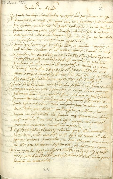 <strong>Appendix </strong>3 - Mihovil's letter from 27 December 1558 (Széchenyi 241v)